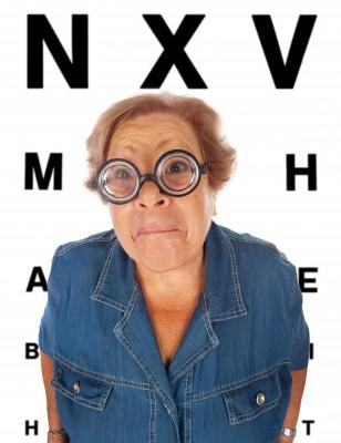Mevrouw met bril